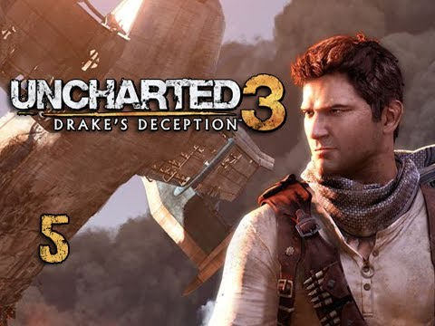 "Uncharted 3 Walkthrough - Part 5 ""The Golden Hind"" (Let's Play, Playthrough)"
