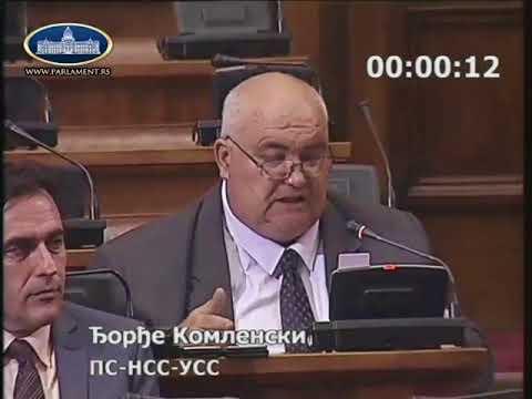 Ђорђе Комленски Колико кошта да се не осуде претње Влади Бабићу? 19.6.2018.