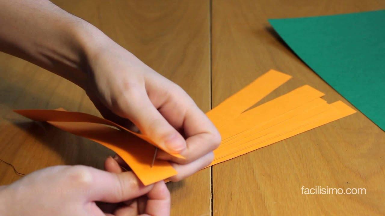 C mo hacer una calabaza de papel para halloween for Como hacer una banqueta tapizada