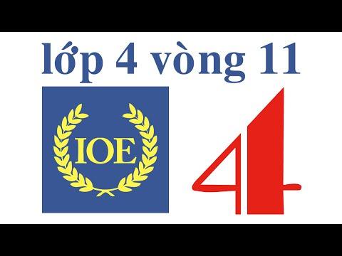 IOE Olympic Tiếng Anh lớp 4 vòng 11 năm 2014-2015