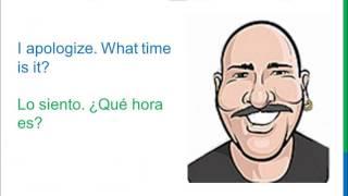 Dialogue 7 Inglés Spanish What Time Is It? Qué