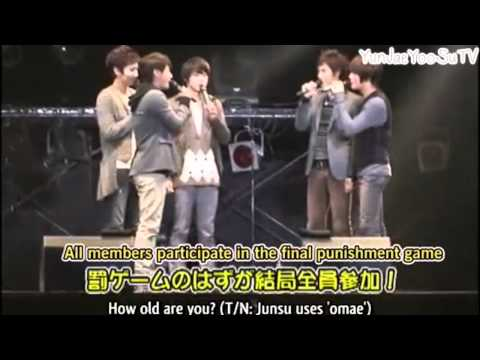 """YunJae moment #35 """"He's my boyfriend"""", OMO~ for once, jaejoong tops!! HAHAH its so weird for me. but still cute! :3 Micky is forever yunjae's no.1 fan :D"""