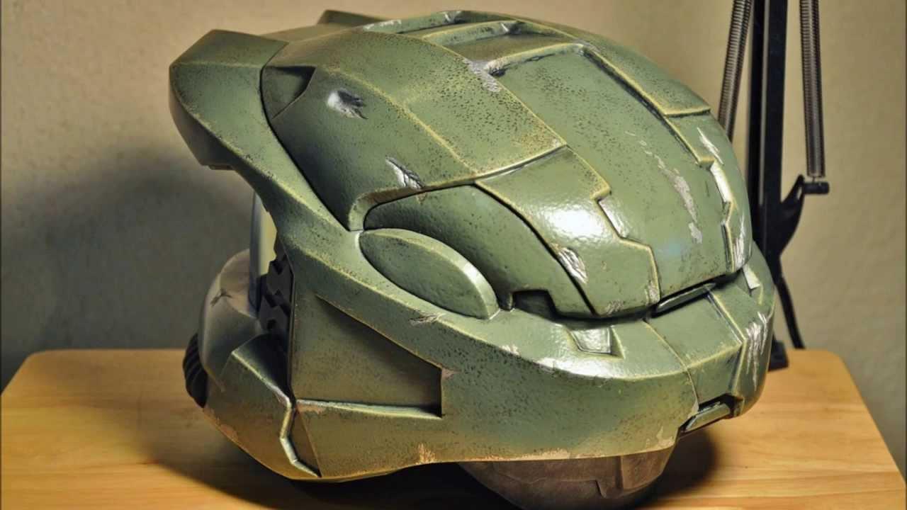 Displaying 19> Images For - Halo 3 Master Chief Helmet Pepakura...