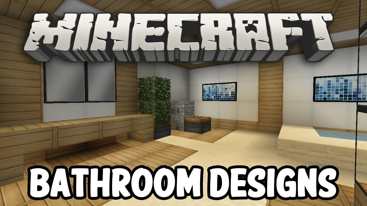 Minecraft interior design bathroom edition youtube for Bathroom designs minecraft