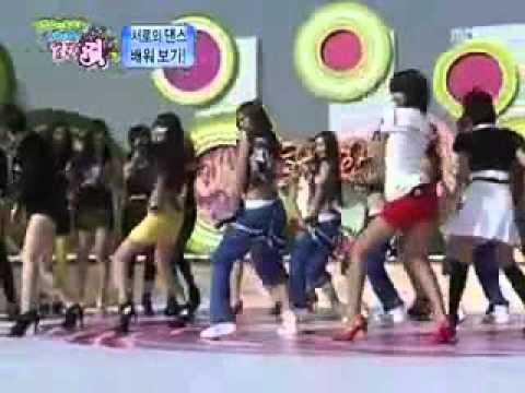 [091002]KARA.T-ARA. SNSD.BEG.AS.4Minute dance to Kara's ''Mister'' (미스터 댄스) at Sweet Girl