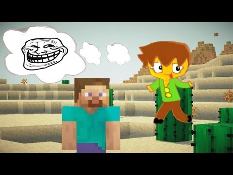 Minecraft - 5 Funny Ways to Troll a Noob