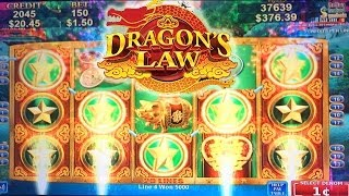 AWESOME WIN! Dragon's Law Slot Machine Bonus Feature By