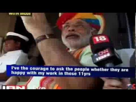 Watch how Narendra modi respond to paid media purchased by congress