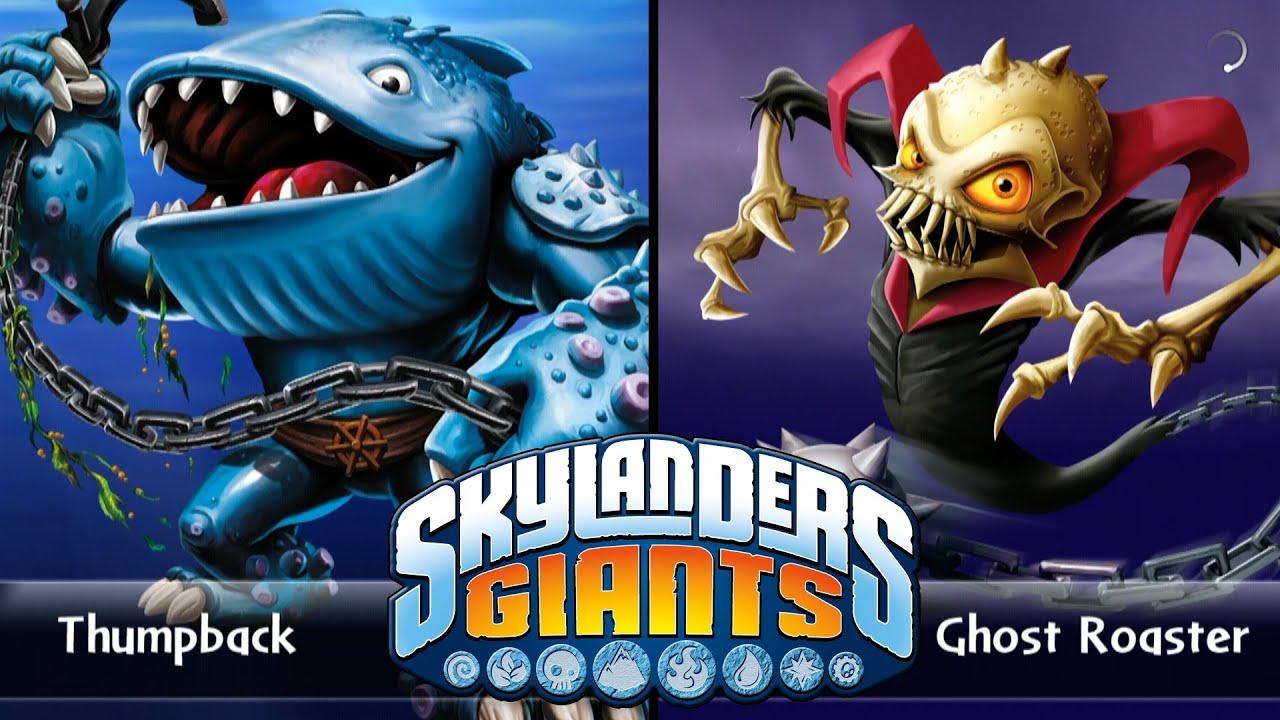 Skylanders giants thumpback vs ghost roaster versus youtube - Skylanders thumpback ...