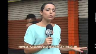 Duas pessoas s�o baleadas em tiroteio no Centro de Belo Horizonte