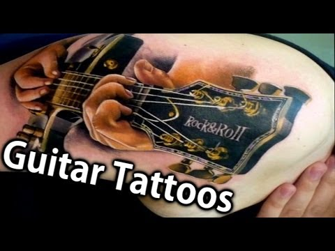50 Best Guitar Tattoos Ever (Review) - tattoos with guitars