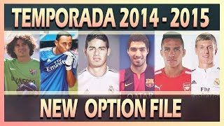 NEW OPTION FILE 2014/2015 • TRASPASOS COMPLETADOS 16/09
