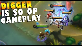 NEW HERO DIGGER INSANE GAMEPLAY THIS HERO IS OP!