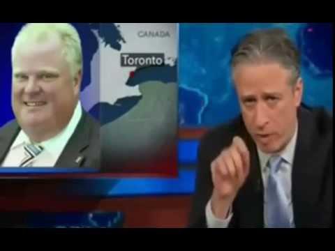 Jon Stewart on Rob Ford Smoking Crack Again (May 2014) New Video