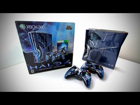 Halo 4 Limited Edition Xbox 360 Bundle Unboxing (Halo 4 Bundle), THIS LIMITED EDITION IS STILL AVAILABLE Halo 4 LE Xbox 360 (US) - http://amzn.to/PSr9mJ Halo 4 LE Xbox 360 (CA) - http://amzn.to/TIGO7l Halo 4 LE Xbox 360 (U...