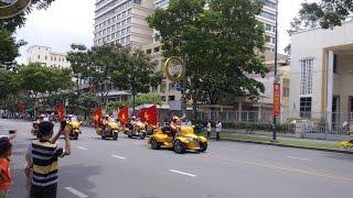FirePoAm: Moto 4 bánh khủng long hộ tống đua xe đạp Cúp Truyền hình 2017 - Cycle racing escorting