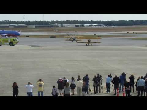 Water Salute for Southwest Airlines Inaugural Flight Celebration at Pensacola International Airport