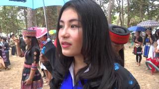 HMONG NEW YEAR IN LAOS 2013-2014: BEAUTIFUL HMONG GIRL IN