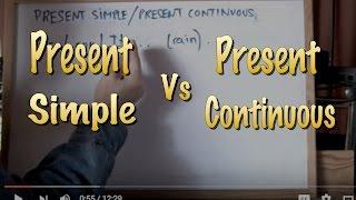 INGLÉS. Diferenciar Present Simple-Present Continuous
