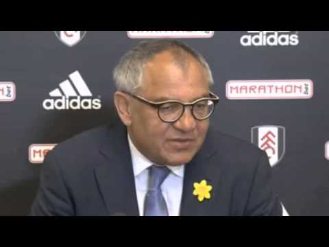 Felix Magath pre match Manchester City vs Fulham FC 22-3-2014