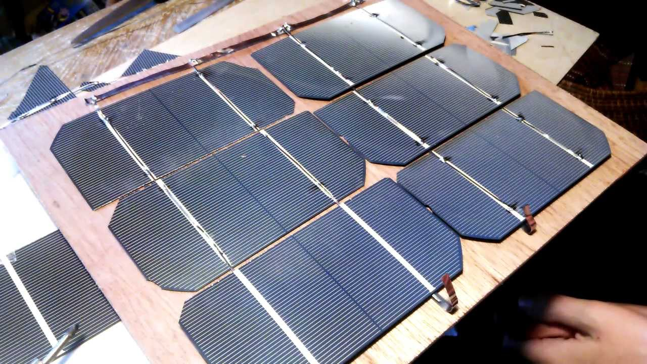 How To Connect Solar Cells With Bus Wire Detailed Video