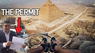The ONLY PERSON allowed to climb the GREAT PYRAMID OF GIZA