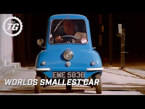 Jeremy drives the smallest car in the world at the BBC - Top Gear - autos, Jeremy drives the Peel P50, the world's smallest production car to work and even takes it into the lift in this hilarious clip from BBC's Top Gear. Watch out...