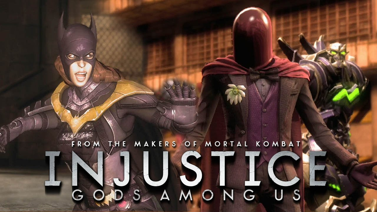 Injustice: Gods Among Us - Batgirl vs The Joker Red Hood Gameplay ...