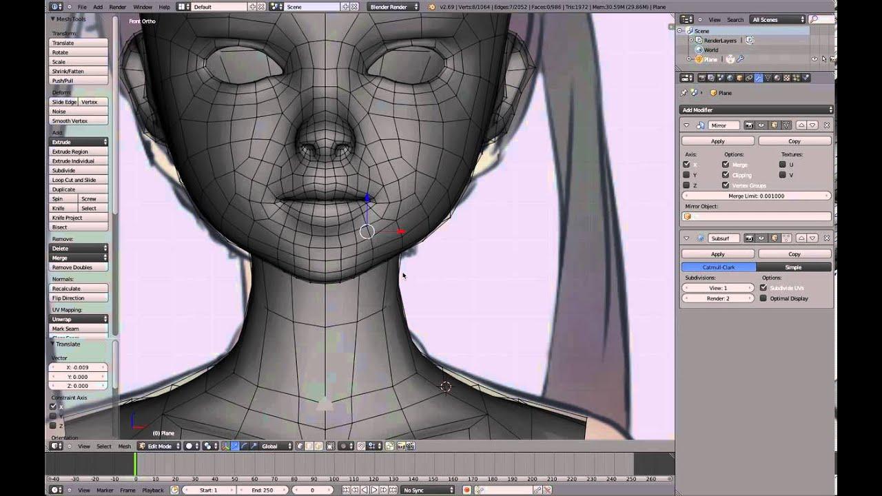 Anime Character Modeling Blender : Maxresdefault g