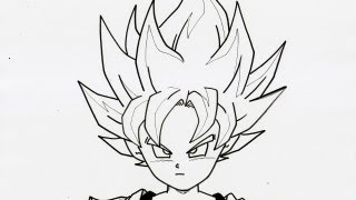 HOW TO DRAW GOTEN SUPER SAIYAN 超サイヤ人 孫悟天