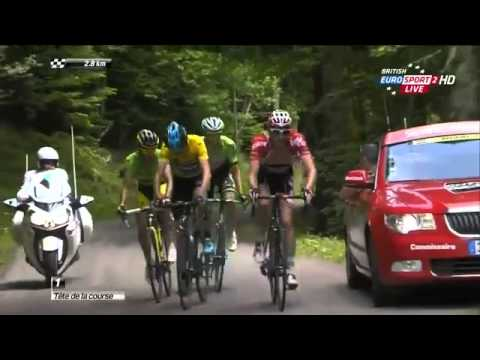 Chris Froome vs Alberto Contador at the Dauphine stage 2 ,2014