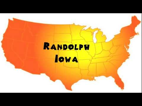 How to Say or Pronounce USA Cities — Randolph, Iowa