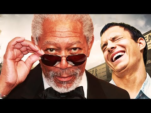 MORGAN FREEMAN PLAYS CALL OF DUTY GHOSTS! - (Funny VOICE Trolling!)
