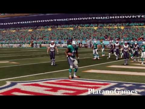 NFL 2013 Week 15 - New England Patriots vs Miami Dolphins - 2nd Qrt - Madden 25 PS4 - HD