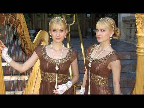 DOWNTON ABBEY Theme (Harp Twins) Camille and Kennerly, Harp Duet