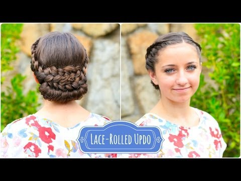 Lace-Rolled Updo | Cute Hairstyles