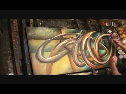 ABSTRACT PAINTING Demonstration Mix Lang art