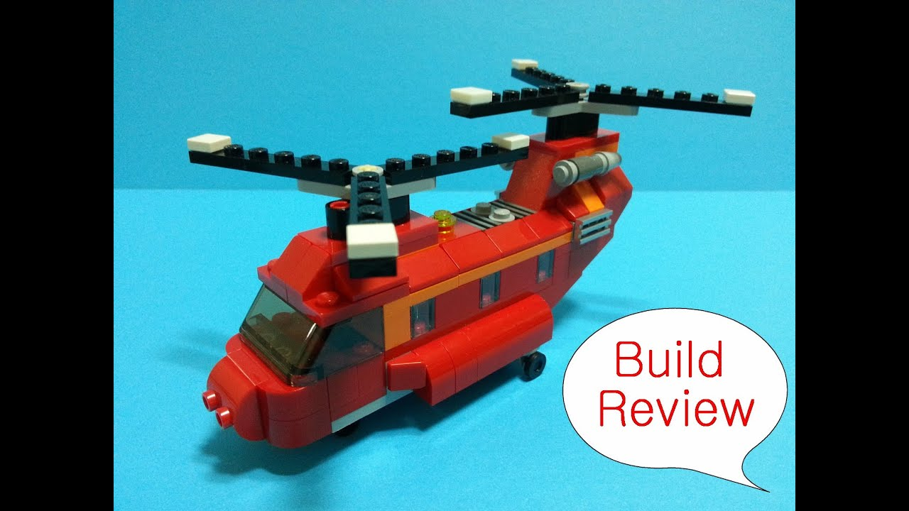 Lego Creator 31003 Red Helicopter Build Review Youtube