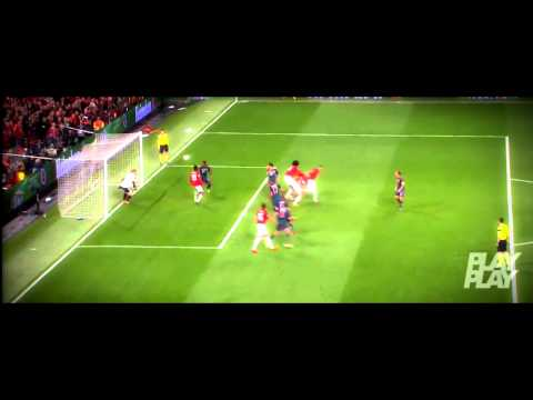 Wayne Rooney vs Bayern Munich / Man Utd - Bayern 1-1 / 1.4.2014 / English commentary / HD