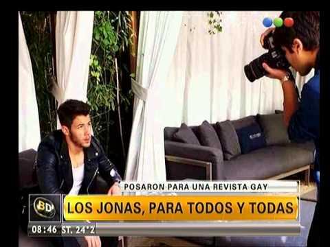 Los Jonas Brothers posan para revista gay - Telefe Noticias