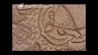 Cuir Repoussé Brassard D'archer Hibou Leather Carving