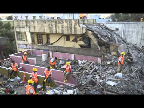 Chennai building collapse: Video of rescue work