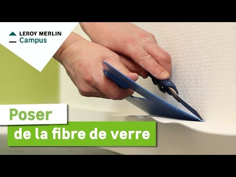 comment poser de la fibre de verre leroy merlin youtube. Black Bedroom Furniture Sets. Home Design Ideas