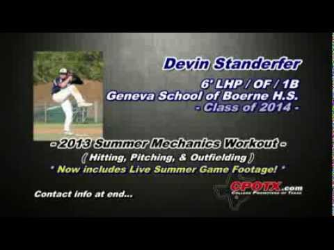 Devin Standerfer - 2013 Summer Mechanics & Live Game Footage