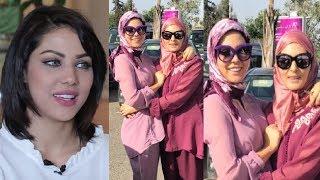 بالصور: إبتسام تسكت رفقة والدتها بالحجاب والجبادور المغربي في أحدث ظهور لهما أثارت إبهار محبيها |