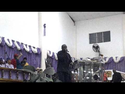 Elder Wayne Brown At Apostolic Ark Pentecostal Church Youth Week 2014 Tuesday Pt4