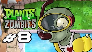 Plants Vs. Zombies Gameplay Walkthrough Part 8 Pool