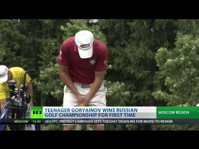 Teens Goryainov, Pegova crowned Russian golf champions