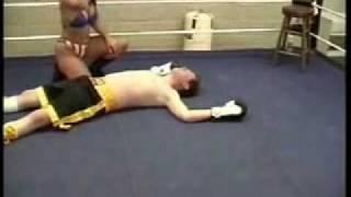 Woman Nock Out Man!