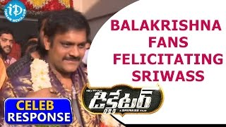 Dictator Effect : Balakrishna Fans Felicitate Sriwass With Flowers